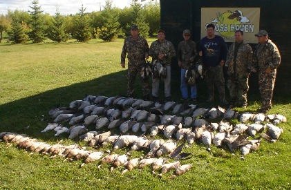 Canada waterfowl hunting, Canada goose and Canada duck with goose outfitters and duck outfitters, goose guide, duck guide