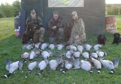 Waterfowl hunting in Saskatchewan, Canada with goose guides